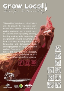 Grow Local Chook poster