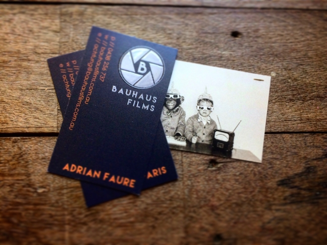 Bauhaus Films business cards