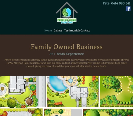 Home page for Perfect Home Solutions